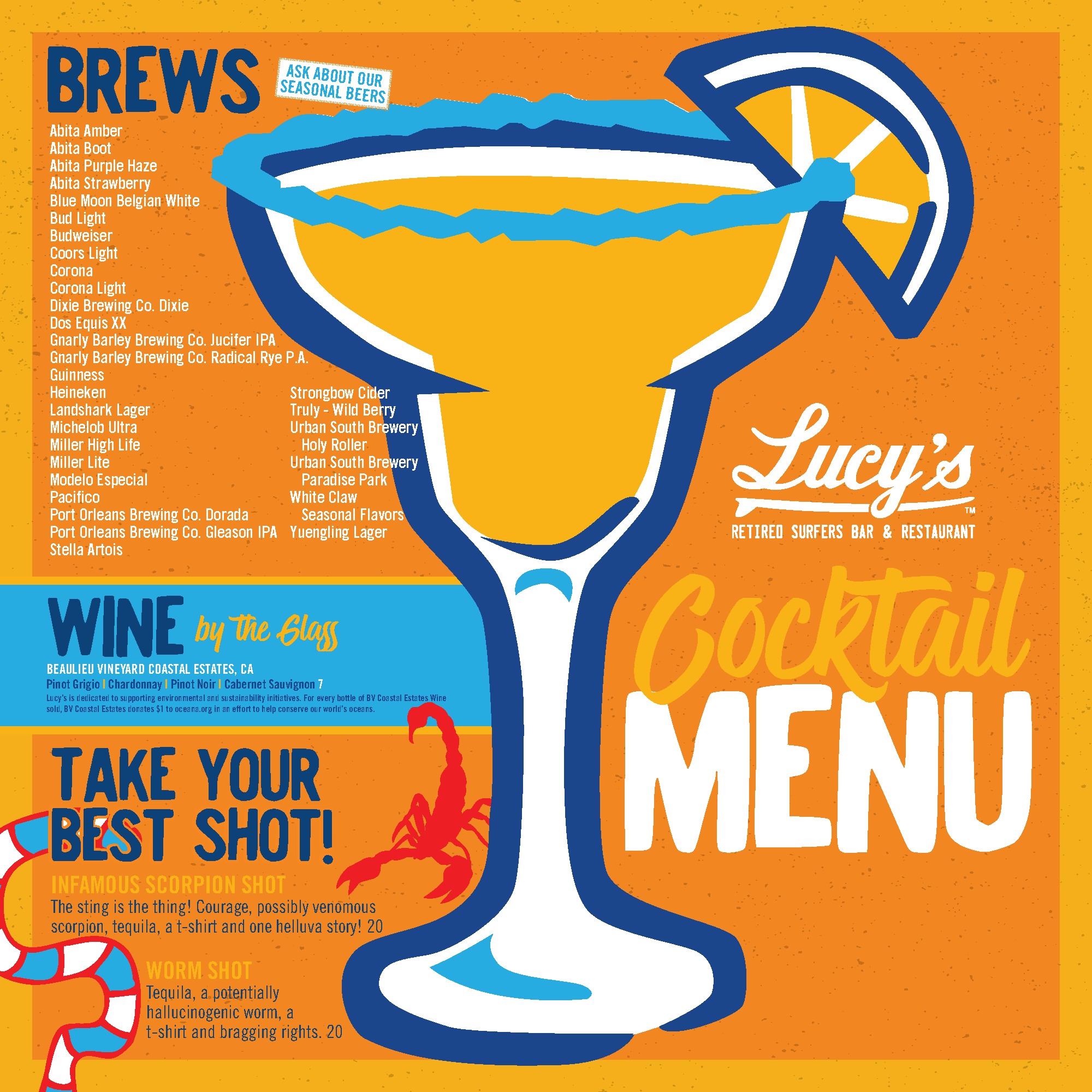 Lucy's Cocktail Menu - Page 1